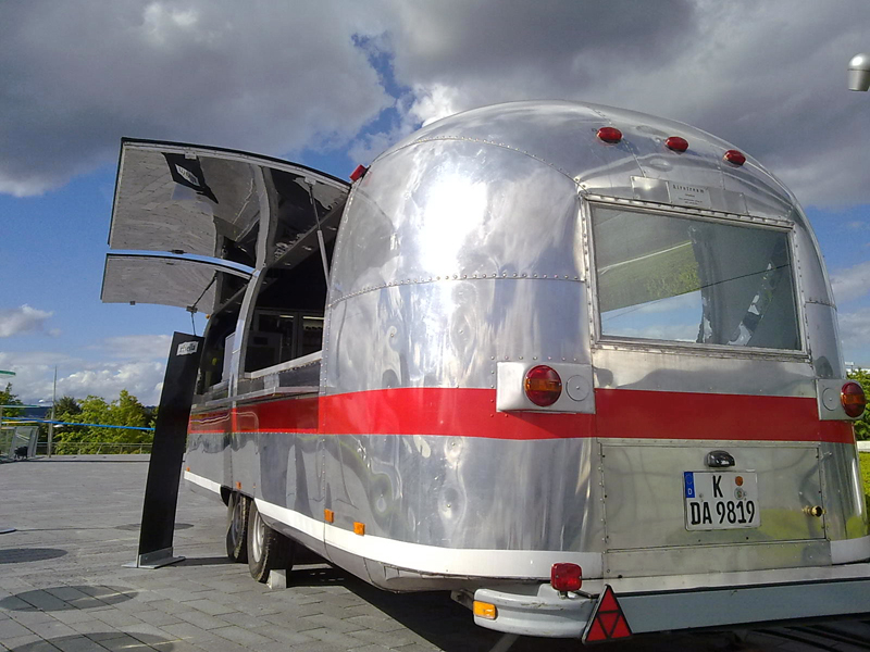 Airstream-Trailer beim Mercedes-Benz Museum